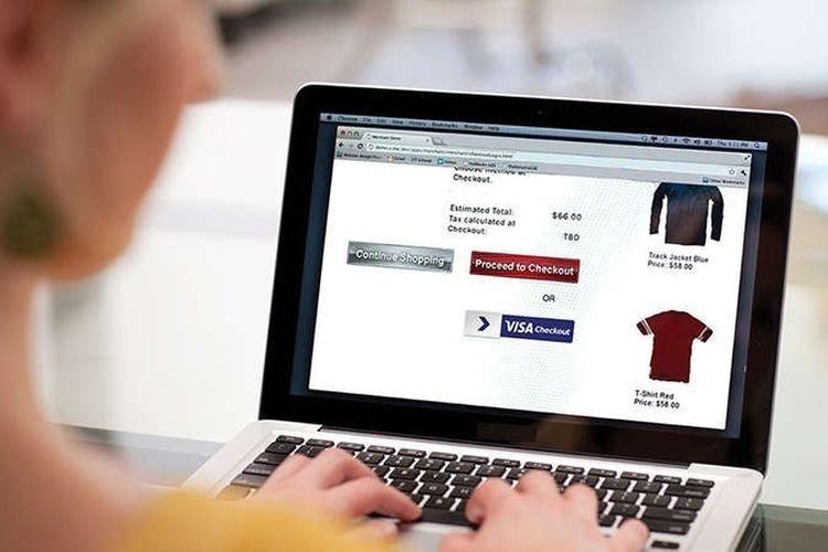 Pastikan keamanan transaksi saat berbelanja online.
