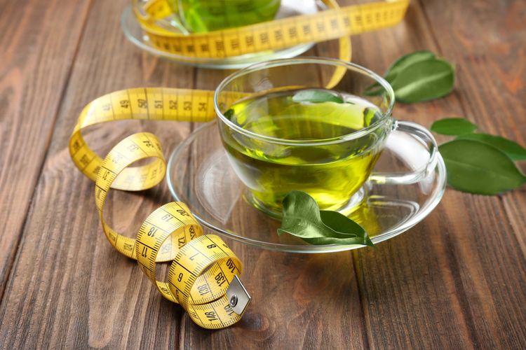 Ilustrasi teh hijau melangsingkan tubuh
