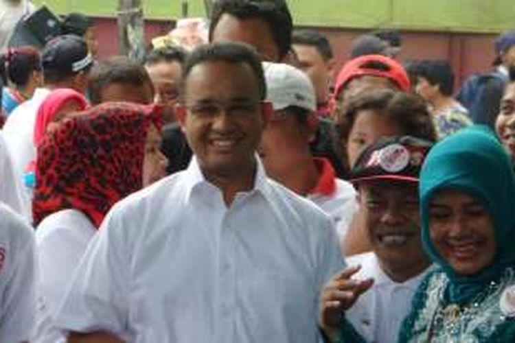 Anies Baswedan di Kelurahan Pademangan Barat, Selasa (13/12/2016)