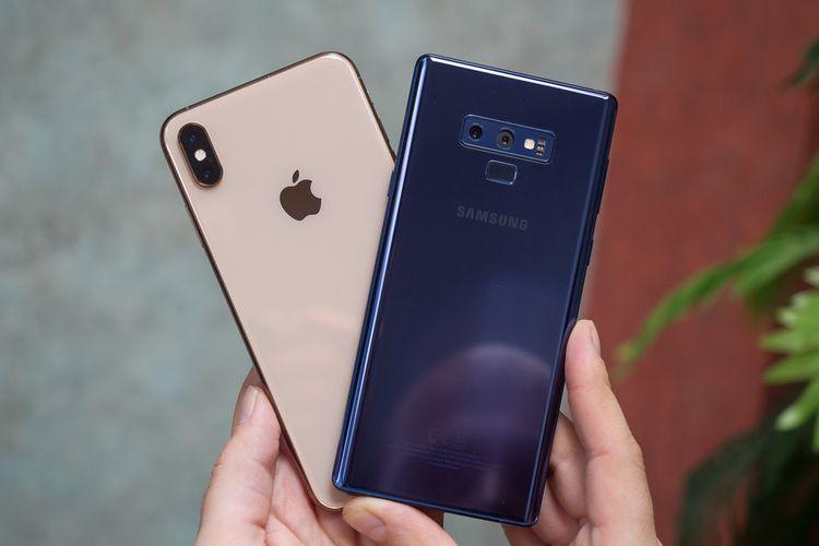 Ilustrasi Apple dan Samsung