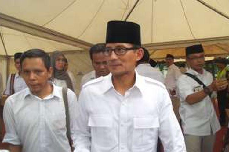 Bakal calon Gubernur DKI Jakarta Sandiaga Uno.