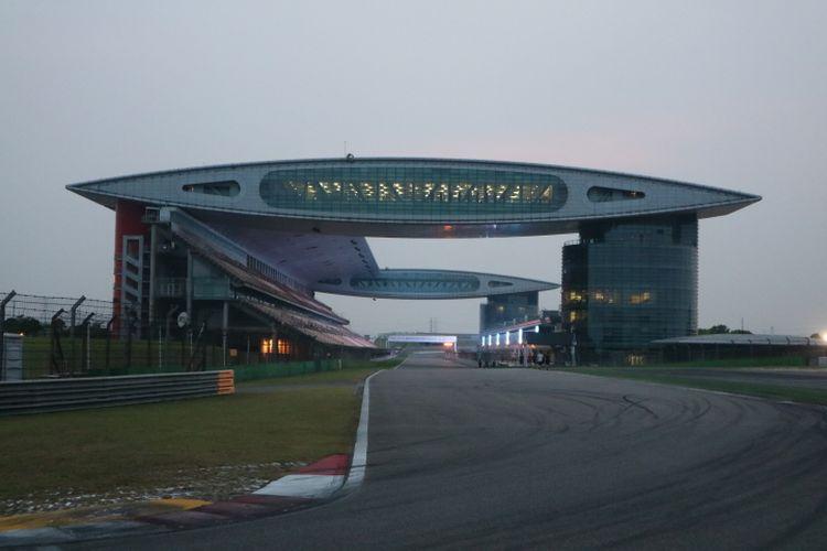 Sirkuit Internasional Shanghai, China, yang akan menjadi salah satu lokasi digelarnya balapan Formula 1 (F1) pada musim 2020.