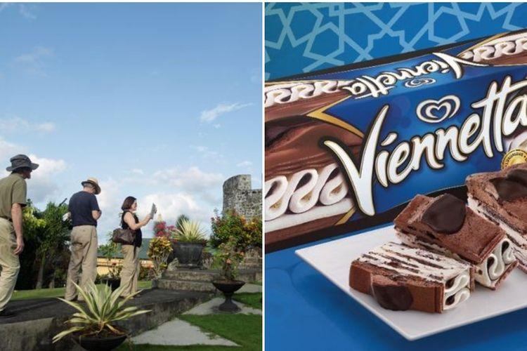 Turis asing dan Es Krim Viennetta