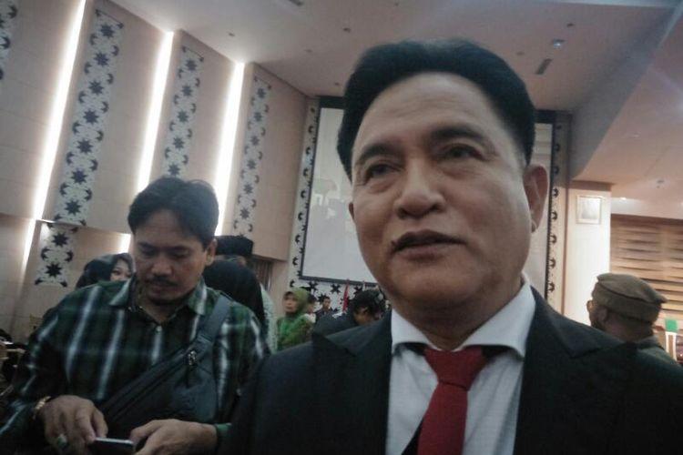 Ketua Partai Bulan Bintang Yusril Ihza Mahendra di Universitas Yarsi, Jakarta, Jumat (21/2/2020)