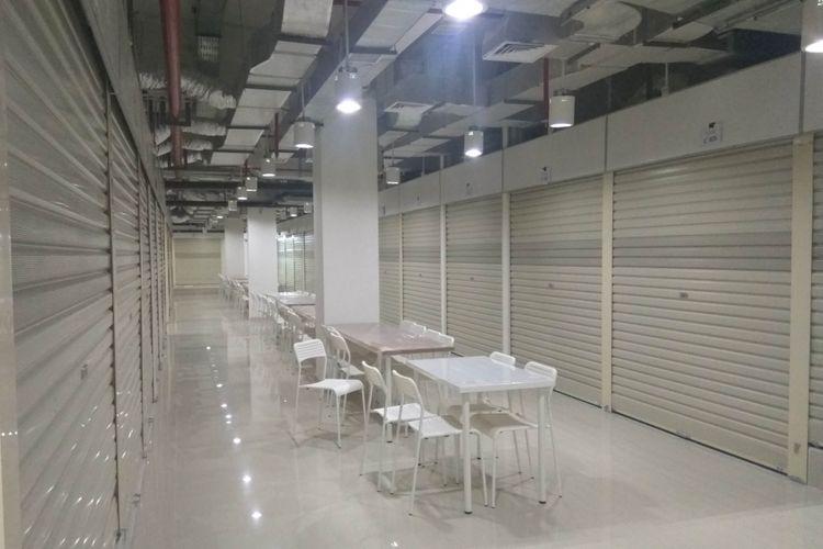 Pasar Senen Blok III, lantai tiga dijadikan sebagai area foodhall, Selasa (9/1/2018)