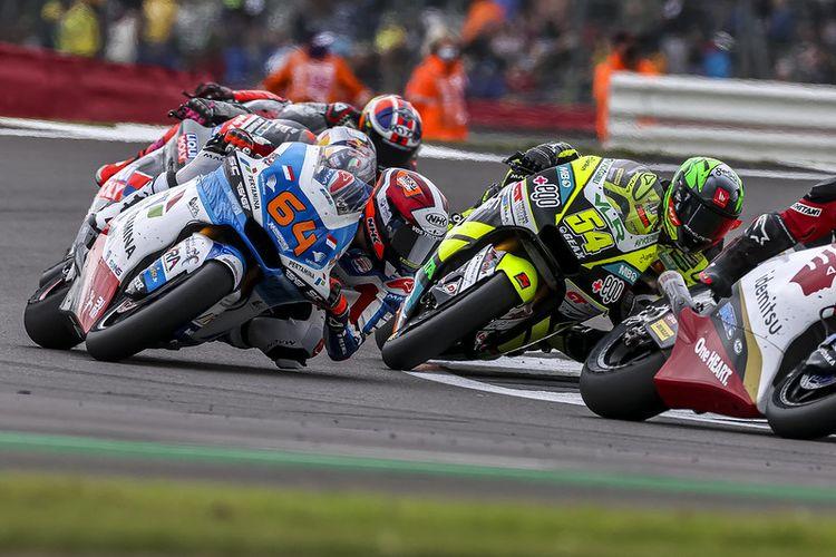 Pebalap Pertamina Mandalika SAG Team, Bo Bendsneyder, saat berlaga pada Moto2 Inggris 2021