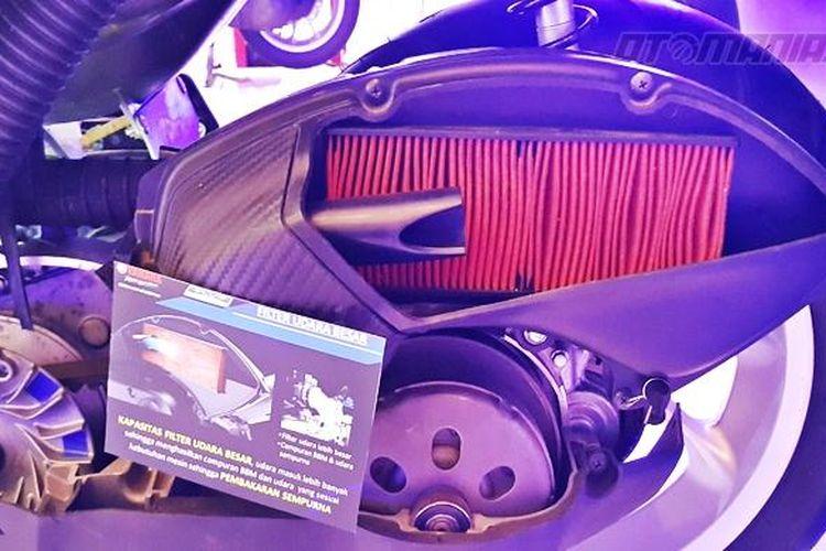 Filter udara pada sepeda motor matik