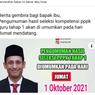 Benarkah Pengumuman Hasil Seleksi Kompetensi Tahap 1 PPPK Guru Diumumkan 1 Oktober?