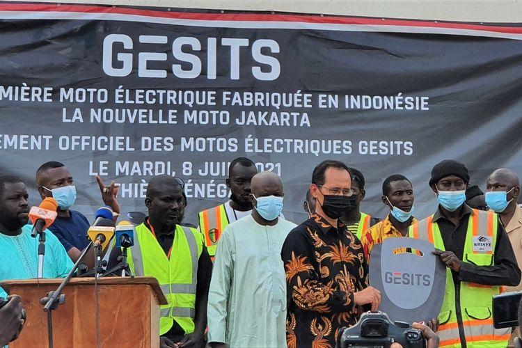 Motor listrik Gesits coba masuk ke pasar Senegal