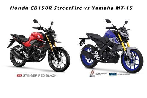 Komparasi Honda CB150R StreetFire dan Yamaha MT-15