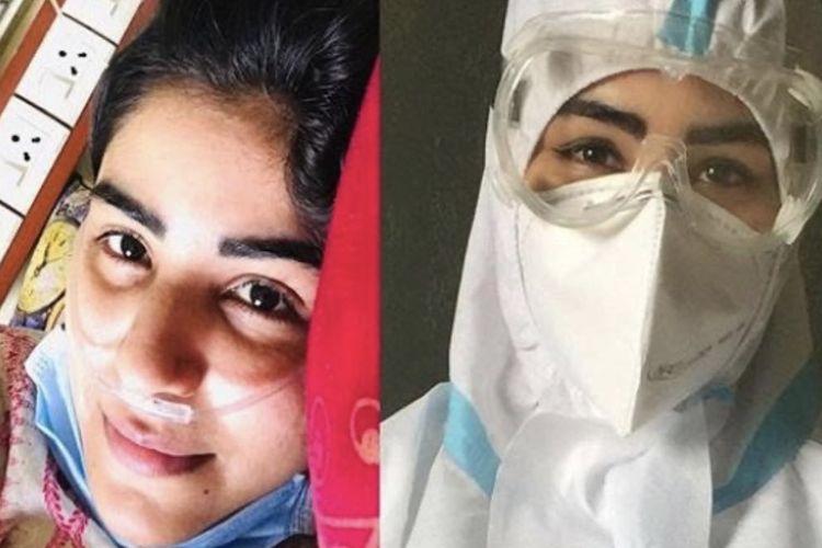 Shikha Malhotra dinyatakan positif Covid-19 pada Oktober lalu terserang stroke yang melumpuhkan tubuhnya.