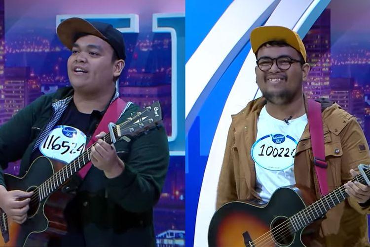 Richard Simanjuntak dan Daniel Simanjuntak, kakak beradik kontestan Indonesian Idol 2019.