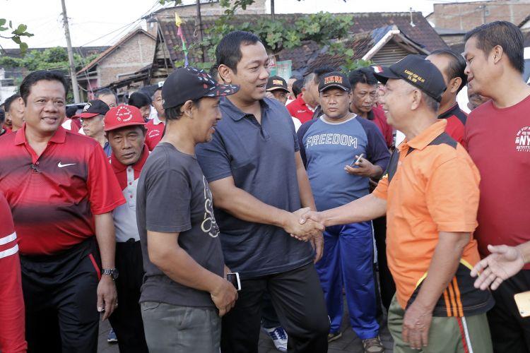 Wali Kota Semarang Hendar Prihadi saat berdialog dengan warga Tambakrejo, Selasa (5/3/2019).