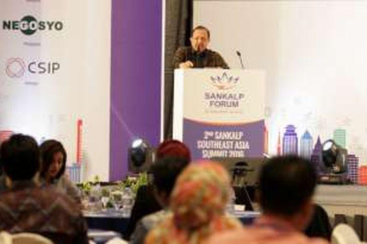 Sekretaris Kementrian Koperasi dan UKM Agus Muharram di Sankalp Forum Jakarta, Rabu (26/10/2016).