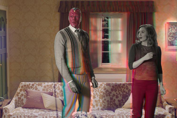 Paul Bettany dan Elizabeth Olsen dalam film WandaVision