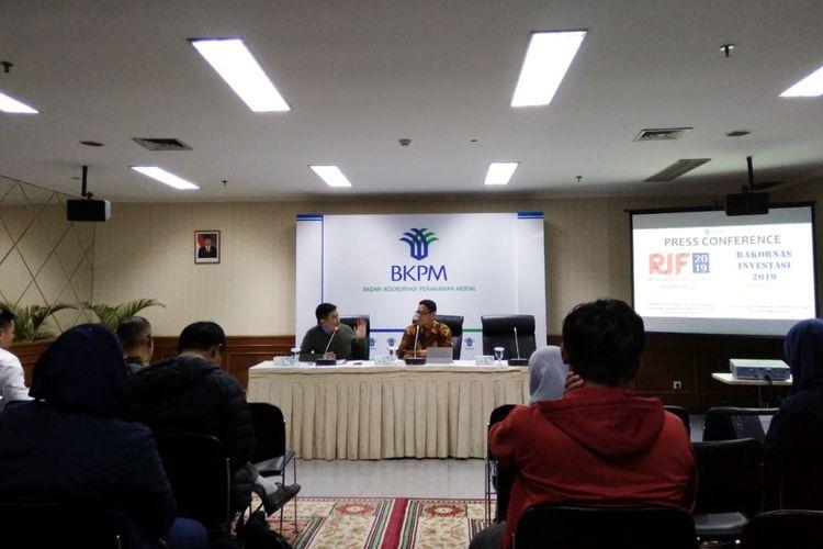 Konferensi Pers Badan Koodinasi Penanaman Modal di Gedung BKPM Jakarta, Rabu (6/03/2019)