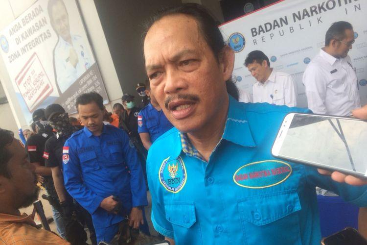 Deputi Pemberantasan BNN Irjen Arman Depari di Gedung BNN, Cawang, Jakarta Timur, Selasa (16/10/2018).