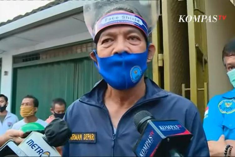 Deputi Pemberantasan Badan Narkotika Nasional, Irjen Pol Arman Depari saat penggerebekan narkoba di Kecamatan Cibodas Kota Tangerang, Selasa (28/7/2020)