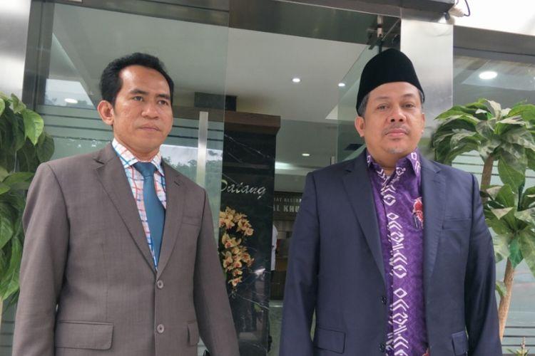 Wakil Ketua DPR RI Fahri Hamzah menyambangi gedung Direktorat Kriminal Khusus Polda Metro Jaya, Selasa (26/6/2018) sekitar pukul 08.20 WIB. Ia datang didampingi kuasa hukumnya Mujahid Latief.