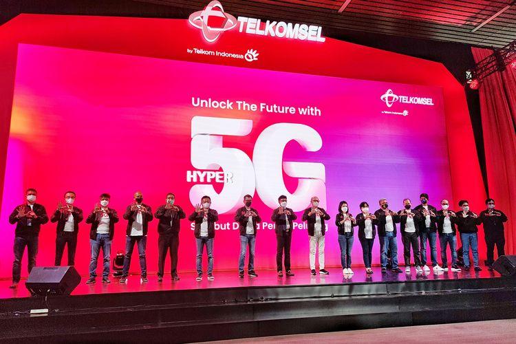 Peluncuran layanan 5G Telkomsel di Jakarta, Kamis (27/5/2021)