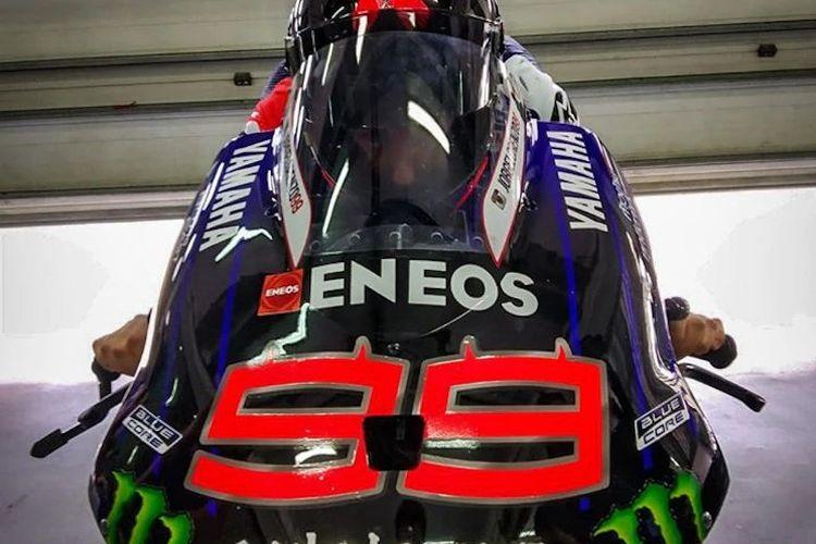 Penampilan pertama Lorenzo setelah kembali ke Yamaha.