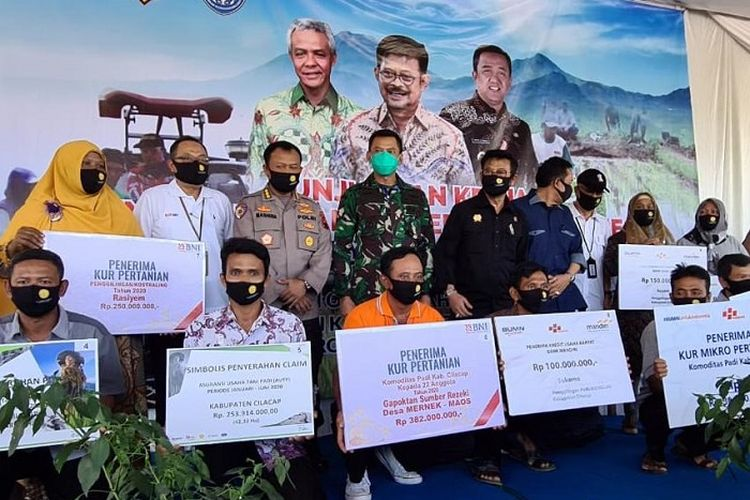 Mentan Syahrul Yasin Limpo, saat melakukan kunjungan kerja ke Cilacap, Jawa Tengah, Jumat (12/6/2020)-Sabtu (13/6/2020).