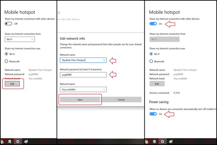 Cara membuat hotspot di komputer Windows 10.