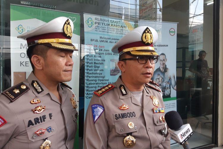 Dirlantas Polda Metro Jaya Kombes Pol Sambodo Purnomo Yogo di RS Petukangan, Jakarta Selatan, Jumat (21/2/2020)