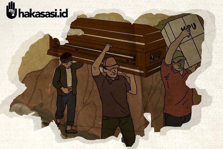Ilustrasi Pemilu yang memakan korban jiwa dari Hakasasi.id