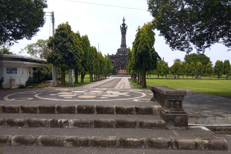 Situasi Lapangan Niti Mandala Renon, Denpasar, Bali, pada Senin (22/3/2021).
