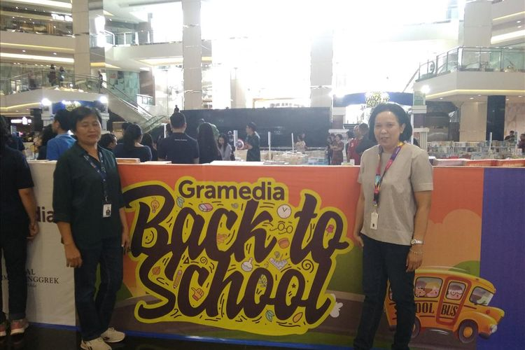 Pameran Buku dan perlengkapan sekolah di Gramedia Back to School Mall Taman Anggrek, Senin (3/6/2019).