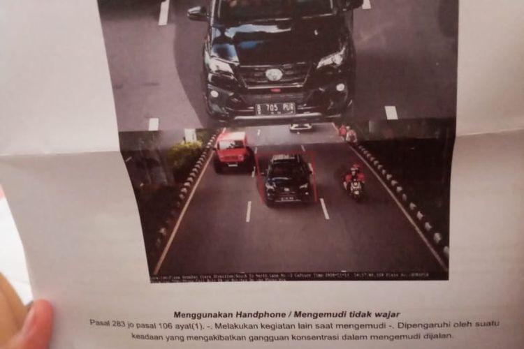 surat tilang elektronik untuk DPRD Sragen Bambang Widjo Purwanto