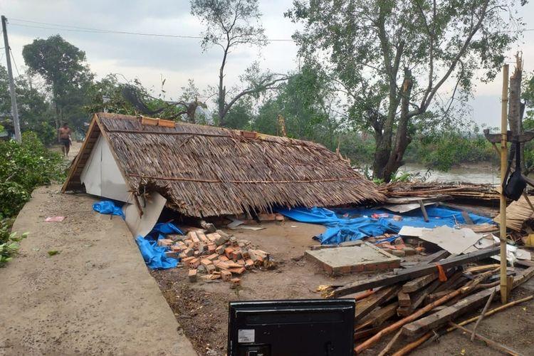 Hujan dan Angin Kencang di Banyuasin, 83 Rumah Rusak