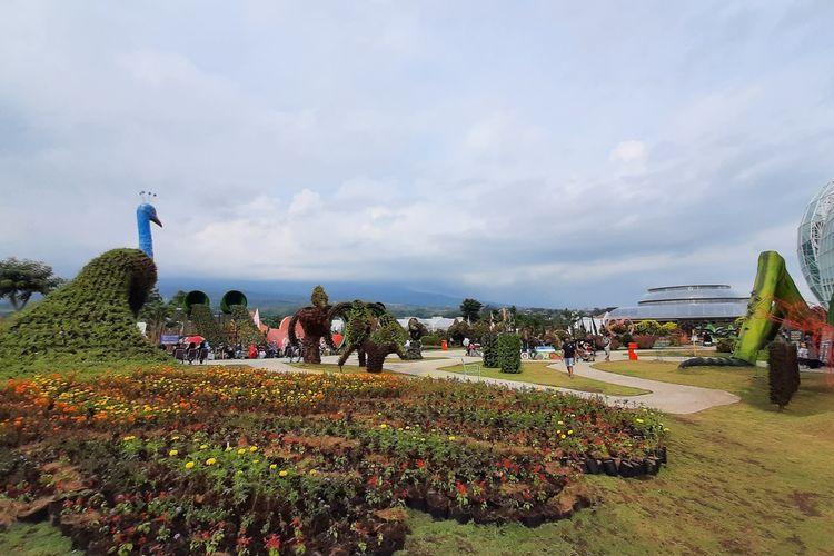 Suasana di Batu Love Garden (Baloga) Kota Batu yang baru dibuka, Sabtu (26/12/2020)