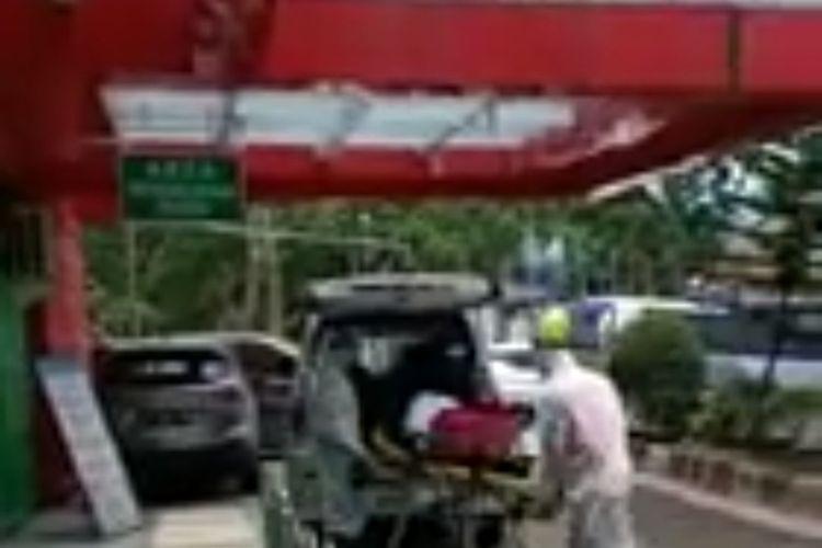 Gambar layar video viral yang menyebut pasien diduga suspect corona diisolasi di RSDP Serang, Banten