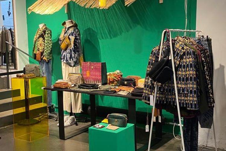 Salah satu sudut Merci Beyond Bali di toko konsep Merci di Paris, Perancis.