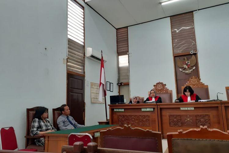 Sidang mediasi anatra  Yustina Supatmi dan SMA Kolese Gonzaga di Pengadilan Negeri Jakarta Selatan, Kamis (21/11/2019)