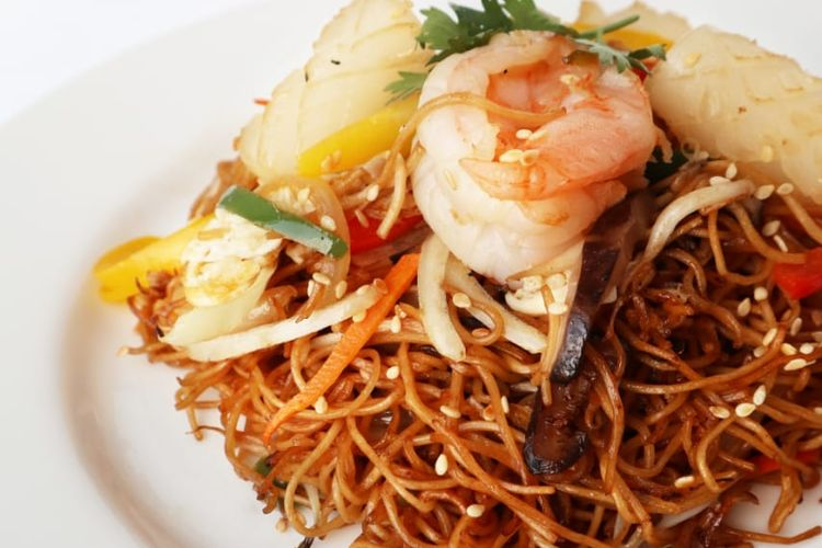 Hongkong Fried Noodle with Seafood