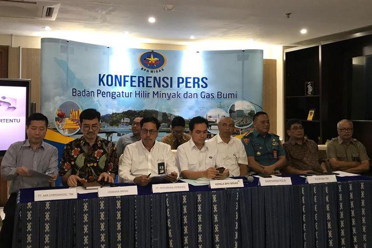 Konferensi pers BPH Migas di Jakarta, Rabu (21/8/2019).