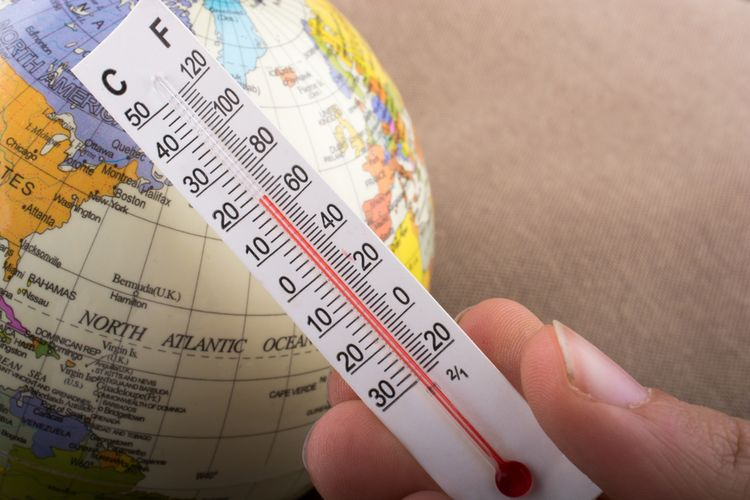 Ilustrasi panas Bumi. Studi baru ungkap jumlah panas yang diserap Bumi semakin meningkat. Ketidakseimbangan energi Bumi ini, salah satunya diakibatkan oleh perubahan iklim.