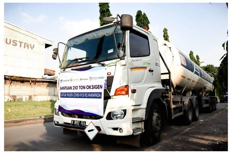 Chandra Asri Salurkan 210 Ton Oksigen Cair ke Rumah Sakit di Jakarta dan Banten