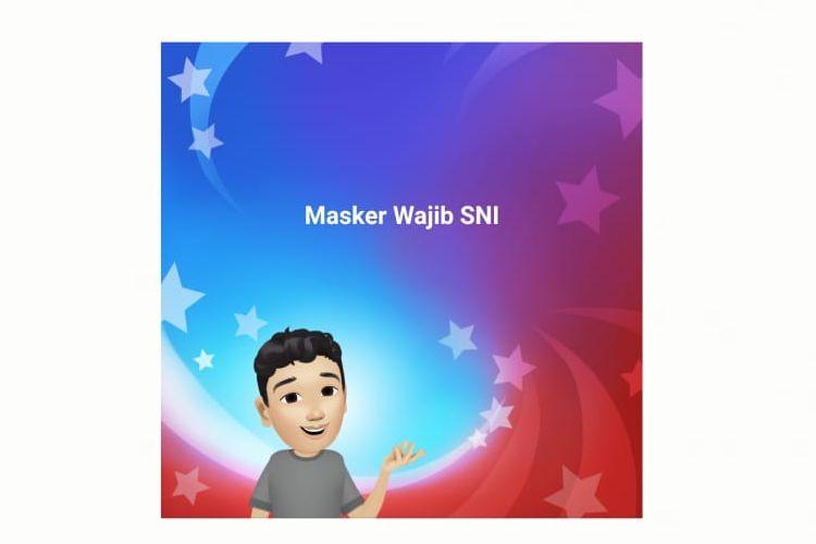 Status Facebook soal kewajiban menerapkan Standar Nasional Indonesia (SNI) pada masker.