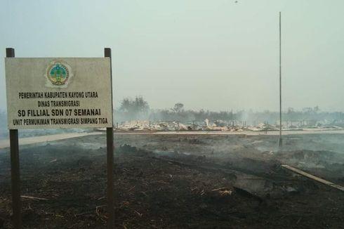 Rembetan Api Karhutla Hanguskan Bangunan Sekolah di Kayong Utara