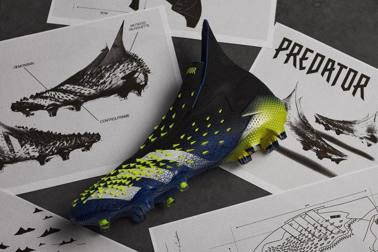 Adidas Predator Freak dengan teknologi DEMONSKIN yang resmi diluncurkan pada 19 Januari 2021.