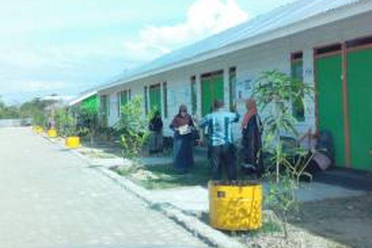 Beginilah hunian barak pengungsi muslim Rohingya di Desa Bolang Adoe, Kecamatan kuta Makmur, Kabupaten Aceh Utara, Aceh, siap digunakan. DESI