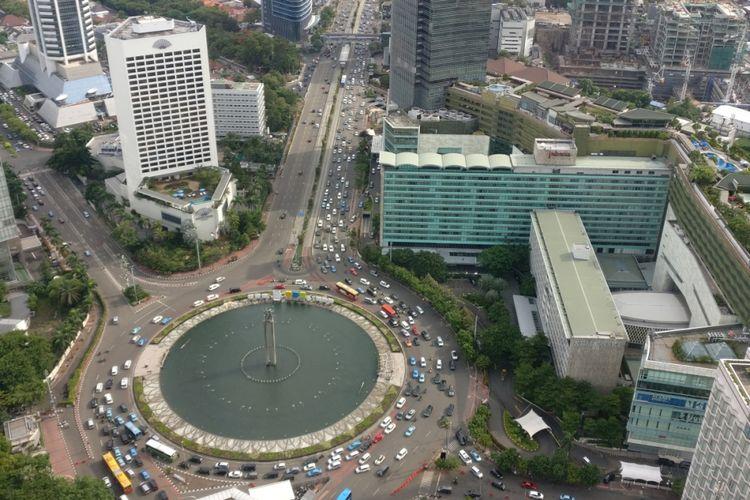 Landmark kota Jakarta, bundaran Hotel Indonesia.