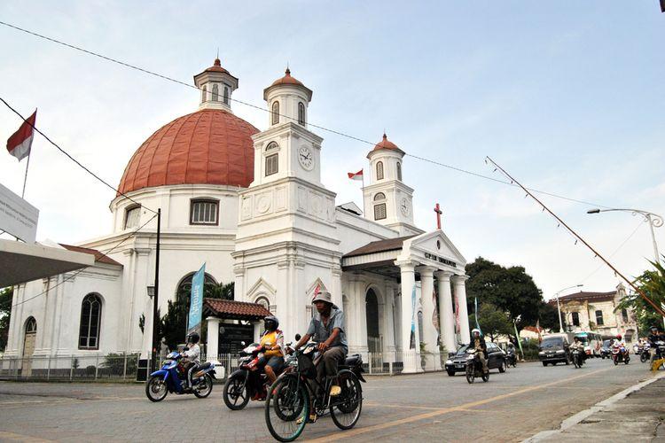 Kawasan Kota Lama, Semarang, Jawa Tengah.