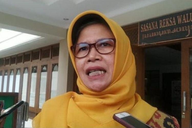 Kepala Dinas Kesehatan Kota Surakarta Siti Wahyuningsih di Solo, Jawa Tengah, Jumat (13/3/2020).