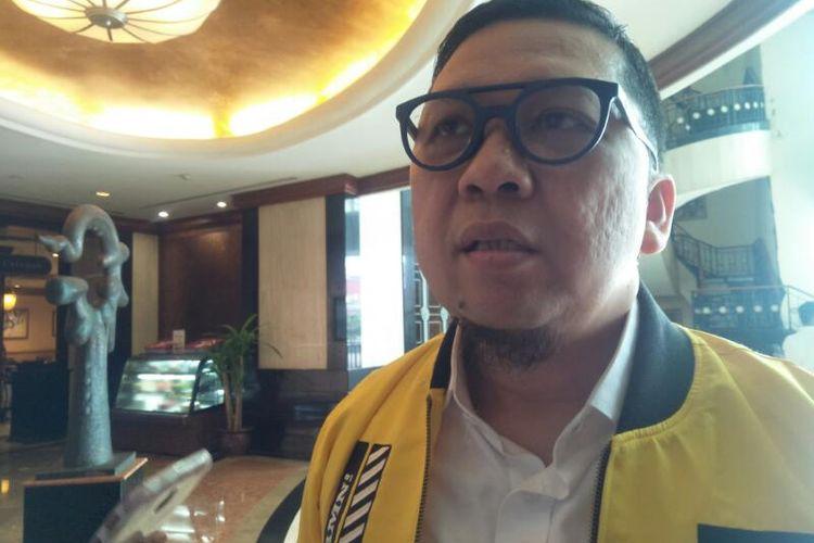 Wakil Ketua Umum Partai Golkar Ahmad Doli Kurnia di Hotel Menara Peninsula, Jakarta, Kamis (27/2/2020)