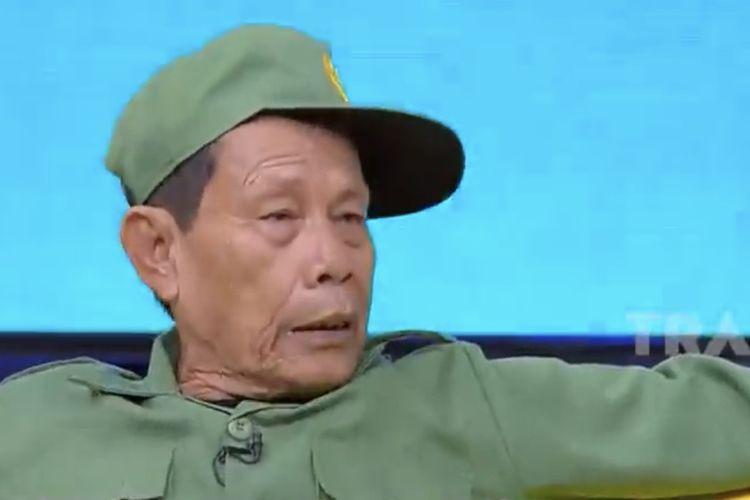 Malih Tong Tong dalam acara Okay Bos. (Bidikan layar YouTube Trans7 Official).